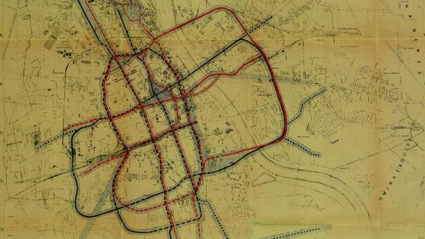 Przedwojenny plan budowy metra Centralne Archiwum Wojskowe