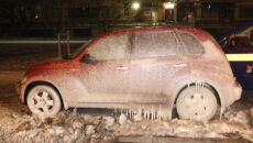 Chrysler zamarzł na Pradze (Lech Marcińczak/tvnwarszawa.pl)
