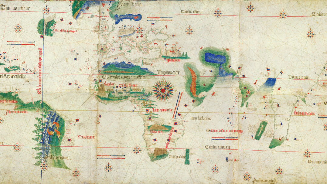 Tak wyglądała mapa znanego świata na początku XVI wieku