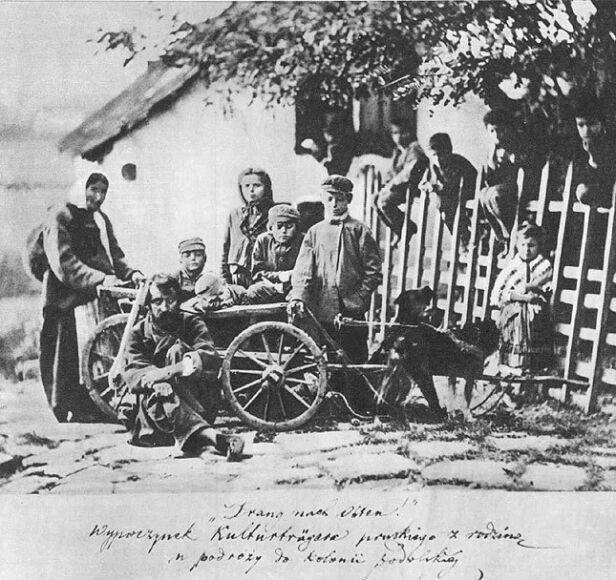 M. Greim, Drang nach osten! Wypoczynek Kulturträgera pruskiego z rodziną w podróży do kolonii podolskiej, 2. poł. XIX w. wikipedia