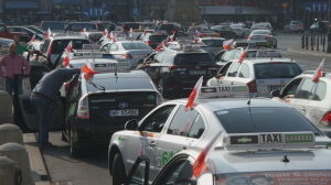 Protest taksówkarzy zakorkował stolicę