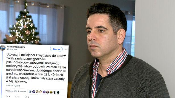 Atak na Turków w autobusie TVN24 / Twitter
