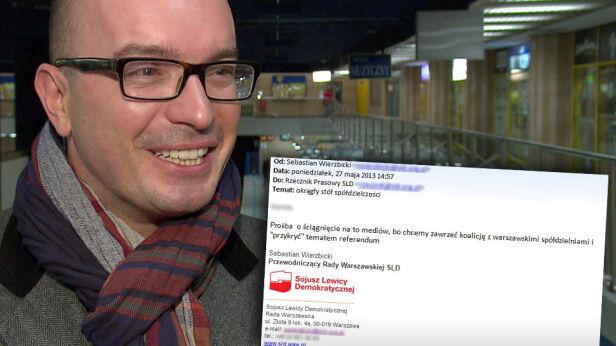 Mail wysłany przez Sebastiana Wierzbickiego TVN24