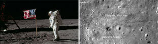 Amerykańskie flagi przetrwały 40 lat na Księżycu
