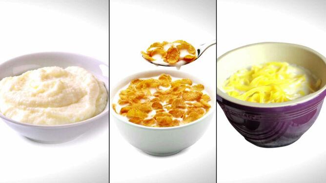 Ile kalorii dostarczają mleczne śniadania?