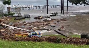 Zniszczenia po przejściu huraganu Sally na Florydzie