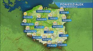 Prognoza pogody na poniedziałek 01.06