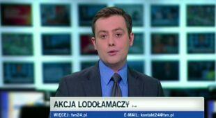 Lodołamacze na Wiśle (TVN24)